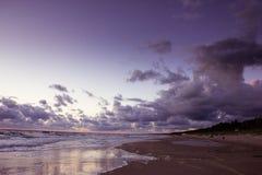 Zonsondergang over de Oostzee Royalty-vrije Stock Afbeeldingen