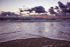 Zonsondergang over de Oostzee Stock Foto's