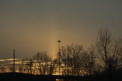 Zonsondergang over de Rivier van Ohio royalty-vrije stock foto's