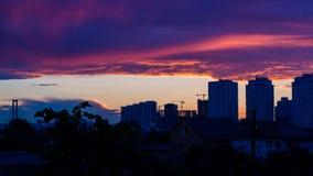 Zonsondergang over de Stad Stock Afbeelding