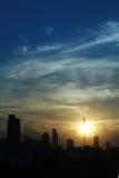 Zonsondergang over de Stad van Bangkok royalty-vrije stock foto