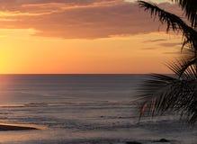 Zonsondergang over de Stille Oceaan stock fotografie