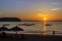 Het Strand van Ngapali - Myanmar Stock Afbeeldingen