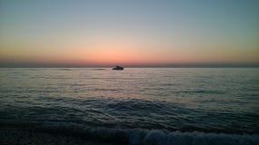 Zonsondergang over de Zwarte Zee Stock Foto