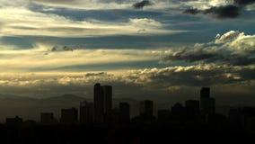 Zonsondergang over Denver stock footage