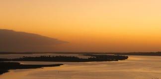 Zonsondergang over Gippsland-Meren van Kalimna-vooruitzicht, royalty-vrije stock foto