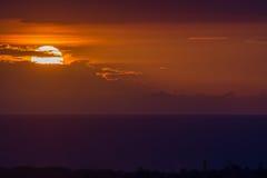 Zonsondergang over Haïti Royalty-vrije Stock Afbeelding