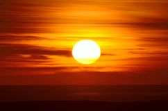 Zonsondergang over het Overzees Royalty-vrije Stock Afbeeldingen
