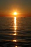 Zonsondergang over het overzees Stock Afbeeldingen