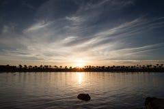 Zonsondergang over het Rode Overzees Royalty-vrije Stock Afbeeldingen