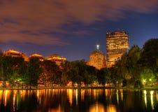 Zonsondergang over het Vierkant van Copley van Boston Stock Foto's