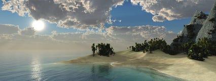 Zonsondergang over het Water Royalty-vrije Stock Foto
