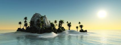 Zonsondergang over het Water Royalty-vrije Stock Fotografie