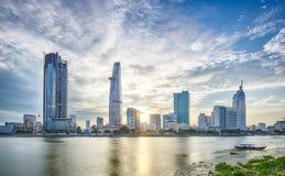 Zonsondergang over Ho Chi Minh City Royalty-vrije Stock Afbeelding