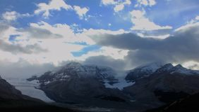 Zonsondergang over Icefield Stock Afbeelding