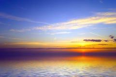 Zonsondergang over koude ocean.3 Royalty-vrije Stock Afbeeldingen