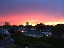 Zonsondergang over New Orleans Royalty-vrije Stock Afbeeldingen