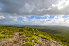 Zonsondergang over Noosa, Zonneschijnkust, Queensland, Australië Stock Foto