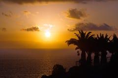 Zonsondergang over oceaan Royalty-vrije Stock Afbeelding