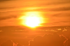 Zonsondergang over onderstel Kilimanjaro royalty-vrije stock afbeelding