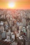 Zonsondergang over Sao Paulo Stock Foto