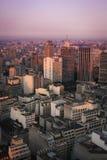 Zonsondergang over Sao Paulo royalty-vrije stock afbeelding