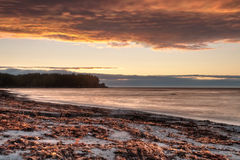 Zonsondergang over St Lawrence River royalty-vrije stock fotografie
