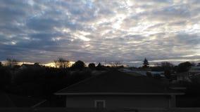 Zonsondergang over stad Royalty-vrije Stock Afbeelding
