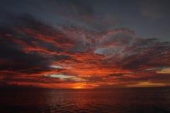 Zonsondergang in Papoea Stock Foto's