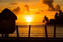 Zonsondergang in paradijs Royalty-vrije Stock Foto