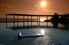 Zonsondergang in Paradijs Stock Foto's