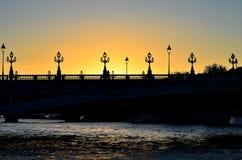 Zonsondergang in Parijs Stock Foto's