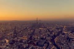 Zonsondergang in Parijs Royalty-vrije Stock Foto's
