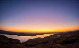 Zonsondergang in Pedra do Calhau stock afbeelding