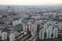 Zonsondergang in Peking, China Stock Fotografie