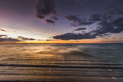 Zonsondergang in Phillip Island Royalty-vrije Stock Afbeeldingen