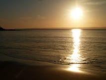Zonsondergang in Phillip Island, Victoria Stock Foto