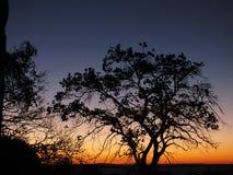 Zonsondergang in Porto Alegre, Brazilië stock foto's