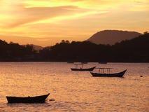 Zonsondergang in Porto Belo Royalty-vrije Stock Afbeelding