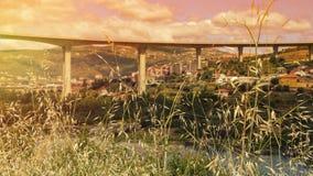 Zonsondergang in Portugal Stock Foto