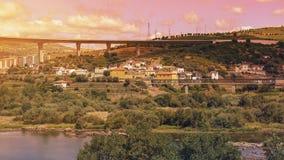 Zonsondergang in Portugal Stock Foto's