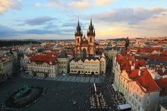 Zonsondergang in Praag Royalty-vrije Stock Foto