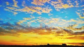 Zonsondergang Praag stock fotografie