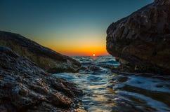 Zonsondergang Razanj Kroatië Stock Foto