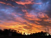 Zonsondergang recente avond Stock Fotografie