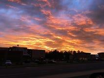 Zonsondergang recente avond Royalty-vrije Stock Afbeelding