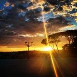 Zonsondergang in Rome Royalty-vrije Stock Afbeelding
