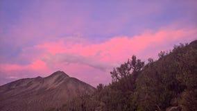 Zonsondergang in Sajama nationaal park - Bolivië Stock Foto's