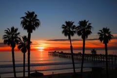Zonsondergang in San Clemente Royalty-vrije Stock Foto's
