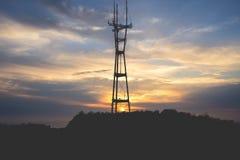 Zonsondergang in San Francisco royalty-vrije stock foto